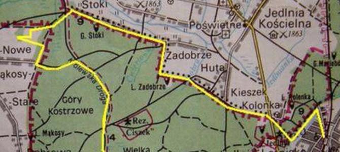 Rajd z Jedlni Letnisko do Lesiowa   27 km     IV.2006